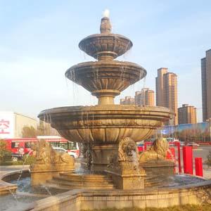 欧式石雕喷泉--伊甸园
