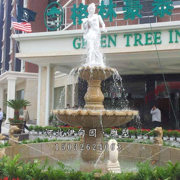 高档宾馆雕塑喷泉 欧式喷泉 石雕喷泉 户外景观喷泉雕塑 欧式水景喷泉