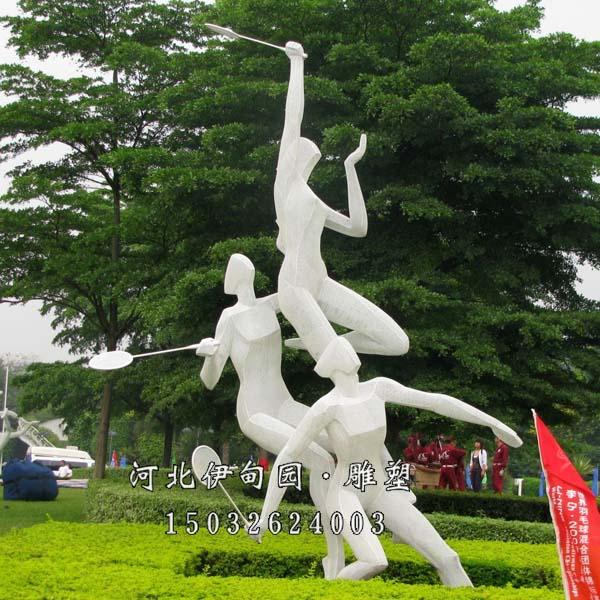 打羽毛球的人 体育运动雕塑打羽毛球 打羽毛球运动雕塑 体育运动雕塑