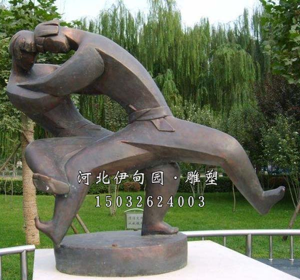 铸铜雕塑体育运动 体育运动雕塑 摔跤雕塑 女子摔跤雕塑图片 摔跤