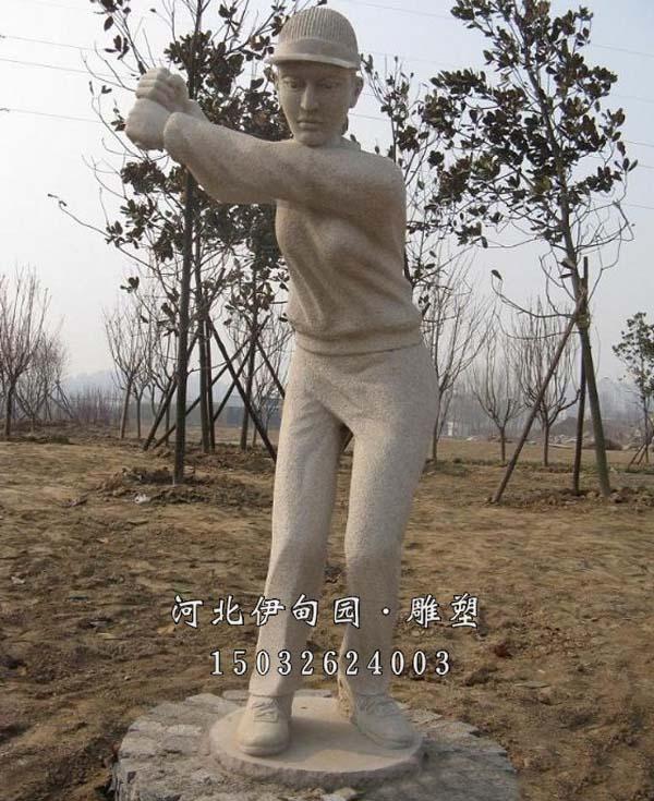 打棒球雕塑 打棒球人物雕塑 打棒球雕塑图片 棒球雕塑设计 打棒球