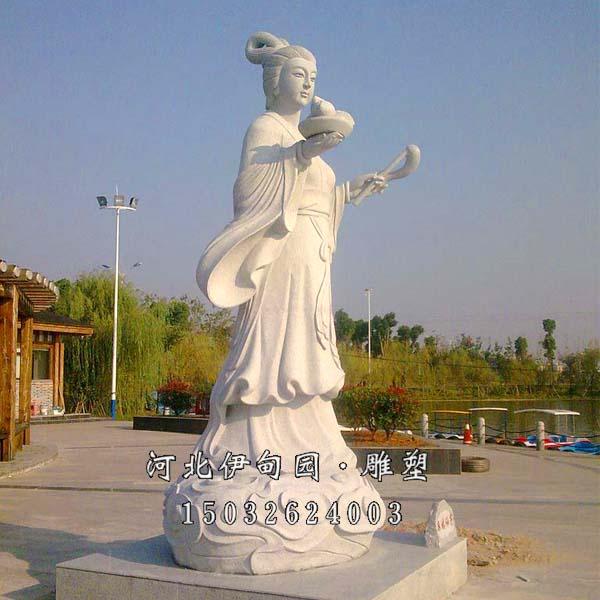 古人物雕刻 仙女雕塑 神仙雕塑 石雕仙女 仙女石雕像 汉白玉仙女