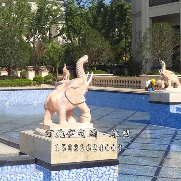 大象喷水喷泉 石雕大象喷泉 大象吐水喷泉 喷水大象喷泉 景观雕塑小品