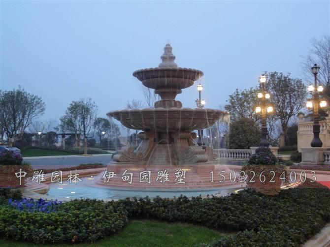 现代石雕喷泉     石雕喷泉-欧式喷泉是纯手工制品,采用天然石材雕刻