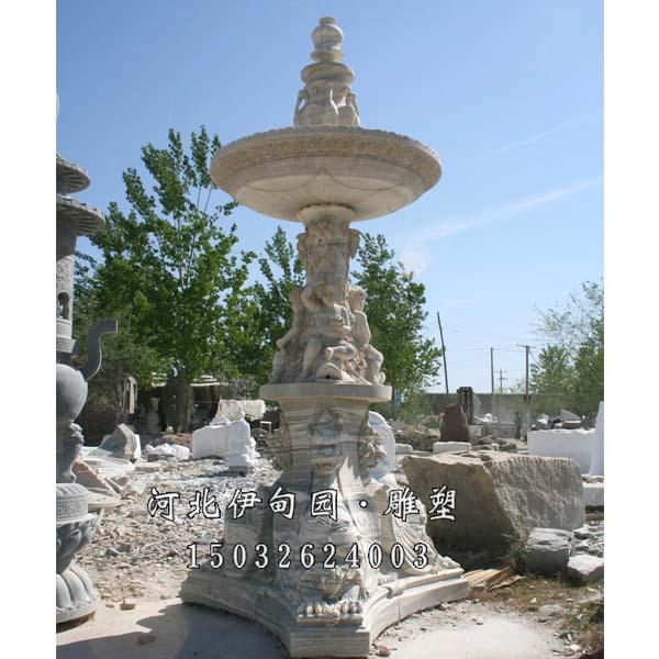 石雕大理石喷泉 欧式石雕喷泉 园林景观雕塑喷泉 欧式水景喷泉 户外