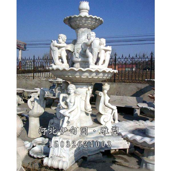 广场雕塑喷泉 汉白玉喷泉 曲阳石雕喷泉 曲阳喷泉雕塑报价 曲阳欧式喷图片