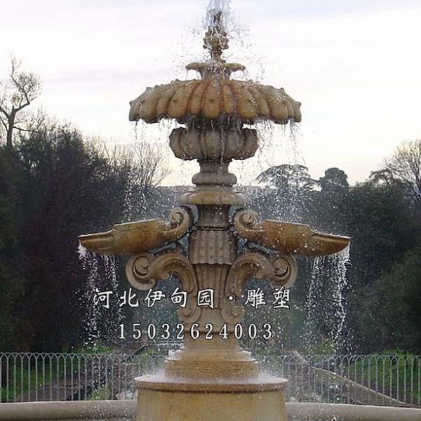 铸铜喷泉雕塑 欧式铸铜喷泉 景观铸铜喷泉 铸铜喷泉小品 户外水景铜喷