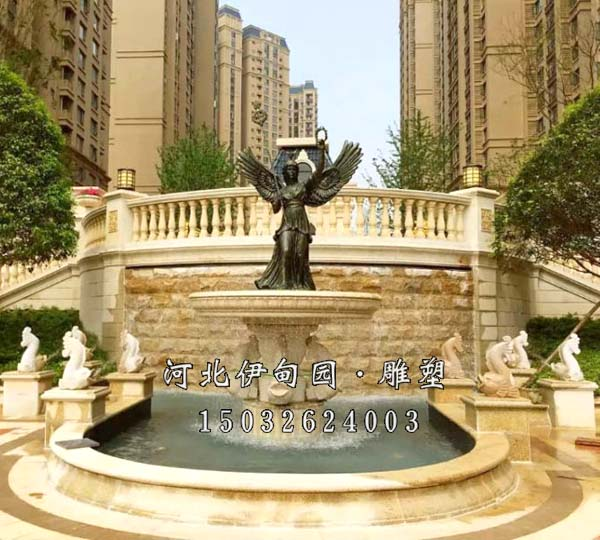 三层跌水喷泉 石雕跌水喷泉 欧式跌水 景观跌水喷泉 大型跌水喷泉图片