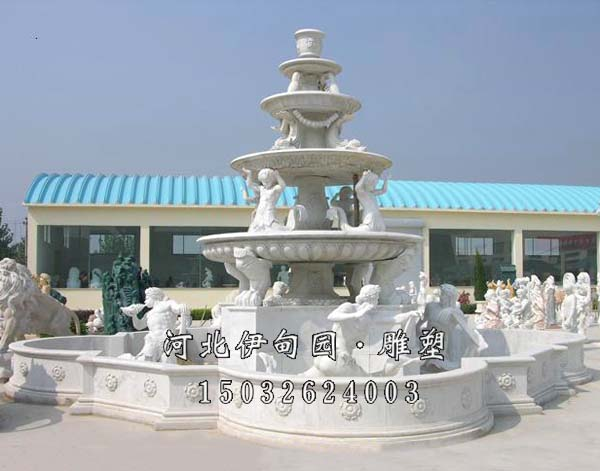 园林景观水钵 高档会所喷泉制作 欧式喷泉 户外景观欧式石雕喷泉 大型