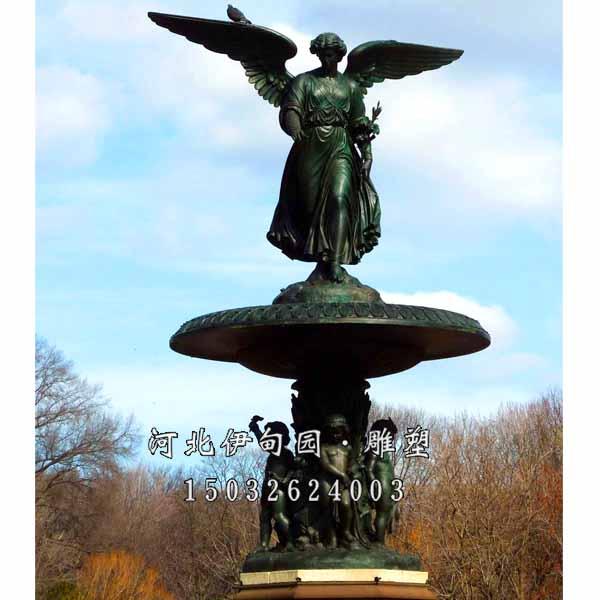 铸铜雕塑喷泉 园林景观喷泉雕塑 喷泉雕塑材质 欧式人物喷泉 铸铜喷泉
