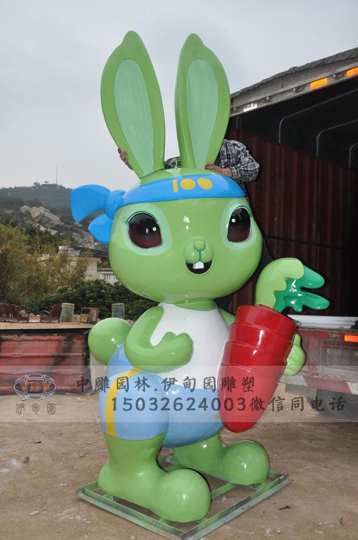玻璃钢雕塑兔子雕塑-048